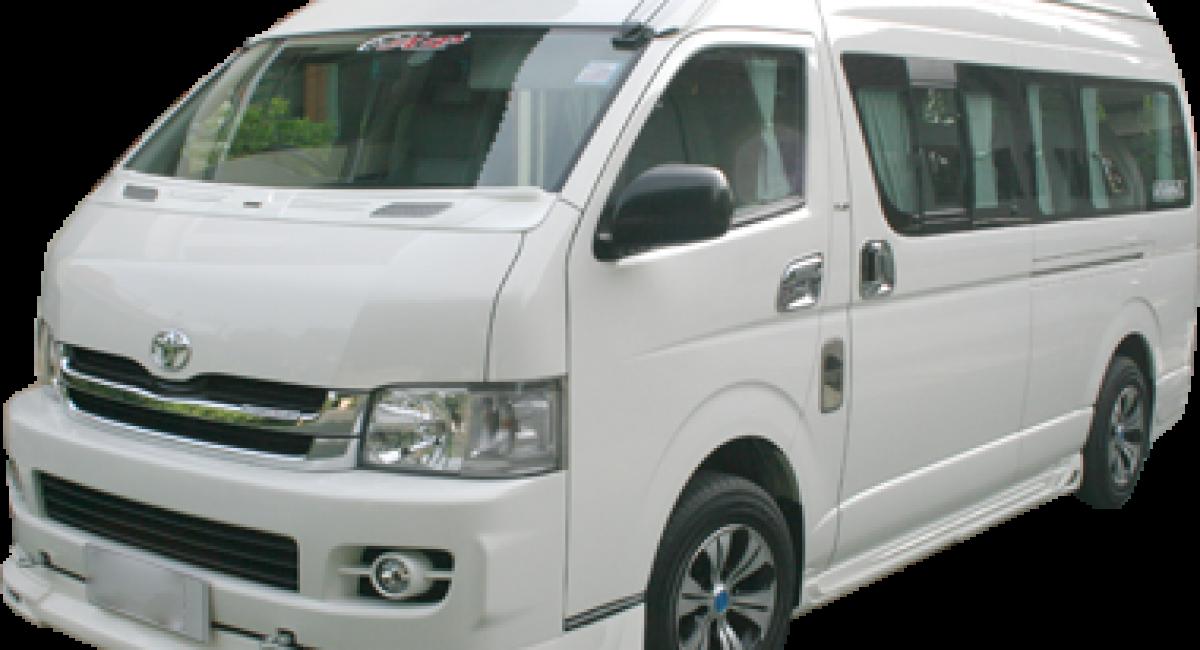 Additional Info ยี่ห้อ:TOYOTA รุ่น:Commuter เกียร์:M/T ค่าเช่า/วัน:2,000 THB